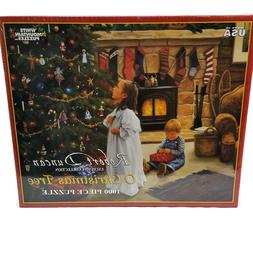 White Mountain 1000 Pc Puzzle Robert Duncan O Christmas Tree