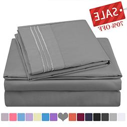 HOMEIDEAS 105 GSM Hotel Luxury 4 Piece Bed Sheets Set  Hypoa