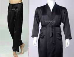 DELIVERY<5 DAYS  2-piece Set Mens Satin Silk Pajama Pants +