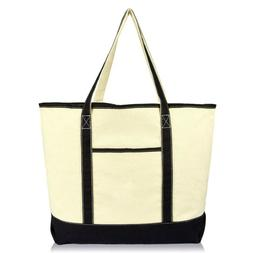 "22"" Extra Large Open Top Shopping Tote Grocery Bag with Oute"