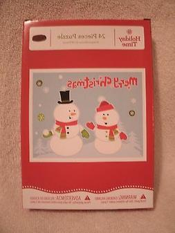 24 Extra Large Pieces Christmas Snowman Puzzle