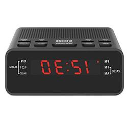 Jingsense 251US Digital Alarm Clock Radio with AM/FM, Dimmer