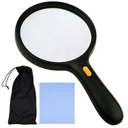 KARE AND KIND EXTRA LARGE 3 LED Handheld Magnifying Glass wi
