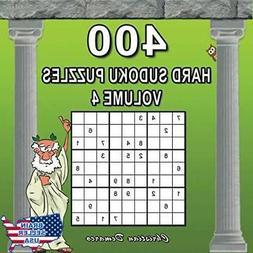 400 Hard Sudoku Puzzles Volume 4: Extra Large Book Layout -