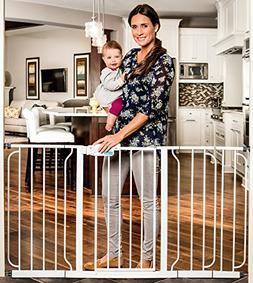 Regalo 58-Inch Extra WideSpan Walk Through Baby Gate, Bonus