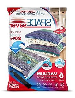SpaceSaver Premium Reusable Vacuum Storage Bags , Save 80% M