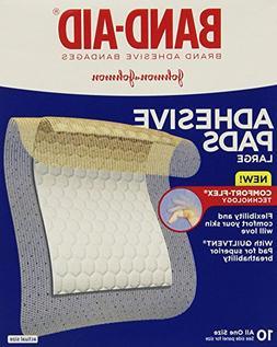 Band-Aid Adhesive Pads Large - 10 CT
