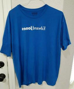 Adult Blue Size 2XL Edward Jones  T Shirt