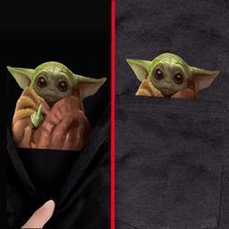 Baby Yoda Middle Finger Funny Meme Pocket T-Shirt Star Wars