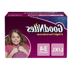 GoodNites Bedtime Bedwetting Underwear for Girls, L-XL  34 C