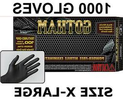 GOTHAM Black Nitrile Exam Gloves, Powder Free, Case of 1000
