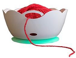 Yarn Bowl by Yarn Valet - Portable, Unbreakable with Soft Ru