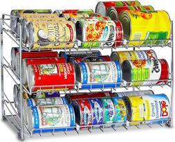 Can Rack Organizer Kitchen Cabinet Storage Food Holder Shelf