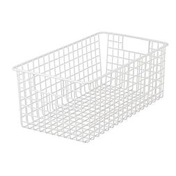 InterDesign Classico Wire Storage Basket with Handles for Or