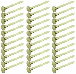 Clipco Paper Fasteners Extra Large 1.5-Inch Brass Plated