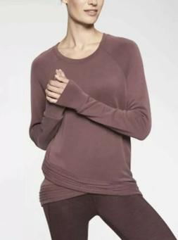 Athleta Criss Cross Serenity Sweatshirt Auberge Purple XL Ex
