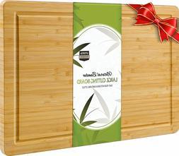 Extra Large Bamboo Cutting Board 17 x 12 Inches  Utopia Kitc