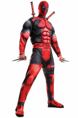 Deluxe Deadpool 2 Adult Halloween Costume & Mask FREE Priori