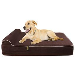 JUMBO XL Size Memory Foam Orthopedic Dog Bed - HeadRest Coll