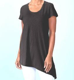FRESH PRODUCE Extra Large BLACK Sasha Asymmetrical Top $52.0