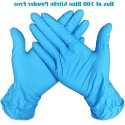 extra large blue nitrile powder free gloves