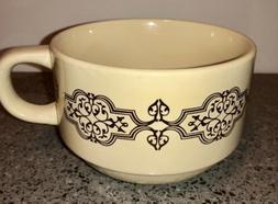 California Pantry Extra Large Mug Bowl Metallic Gold Scroll