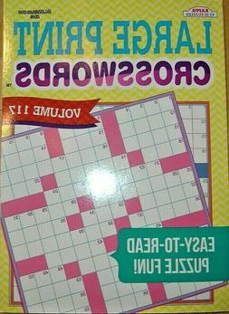 EXTRA LARGE PRINT CROSSWORDS PUZZLE  - EASY TO READ