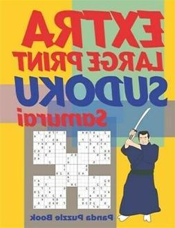 Extra Large Print Sudoku Samurai: Sudoku Variations Puzzle B