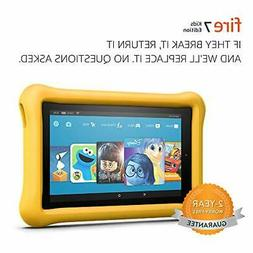 "Fire 7 Kids Edition Tablet, 7"" Display, 16 GB, Yellow Kid-Pr"