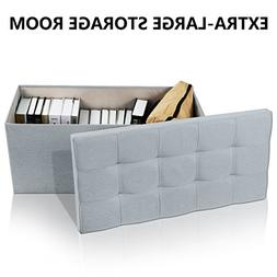 Lifewit 32inch Extra Large Foldable Storage Ottoman Bench To
