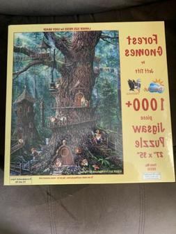 Forest Gnomes - 1000 Piece Puzzle by SunsOut - NEW Sealed -