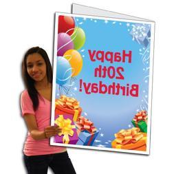 giant presents balloons birthday card