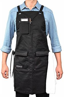 GIDABRAND Professional Grade Chef Kitchen Apron with Double