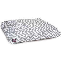 Gray Chevron Extra Large Rectangle Indoor Outdoor Pet Dog Be