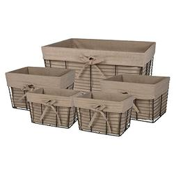 DII Home Traditions Vintage Metal Chicken Storage Basket wit