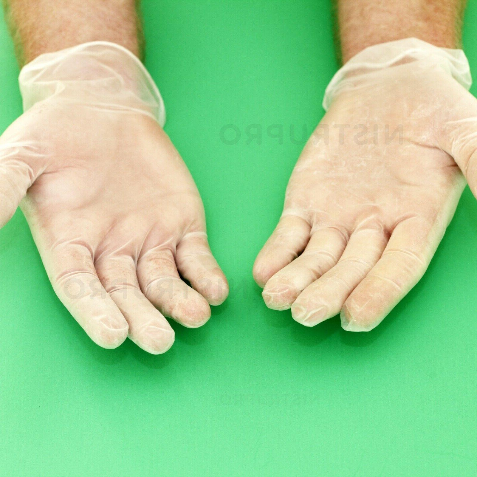 100 PCS Powder-Free Latex-Free GLOVES Non-Sterile MEDIUM, EXTRA LARGE
