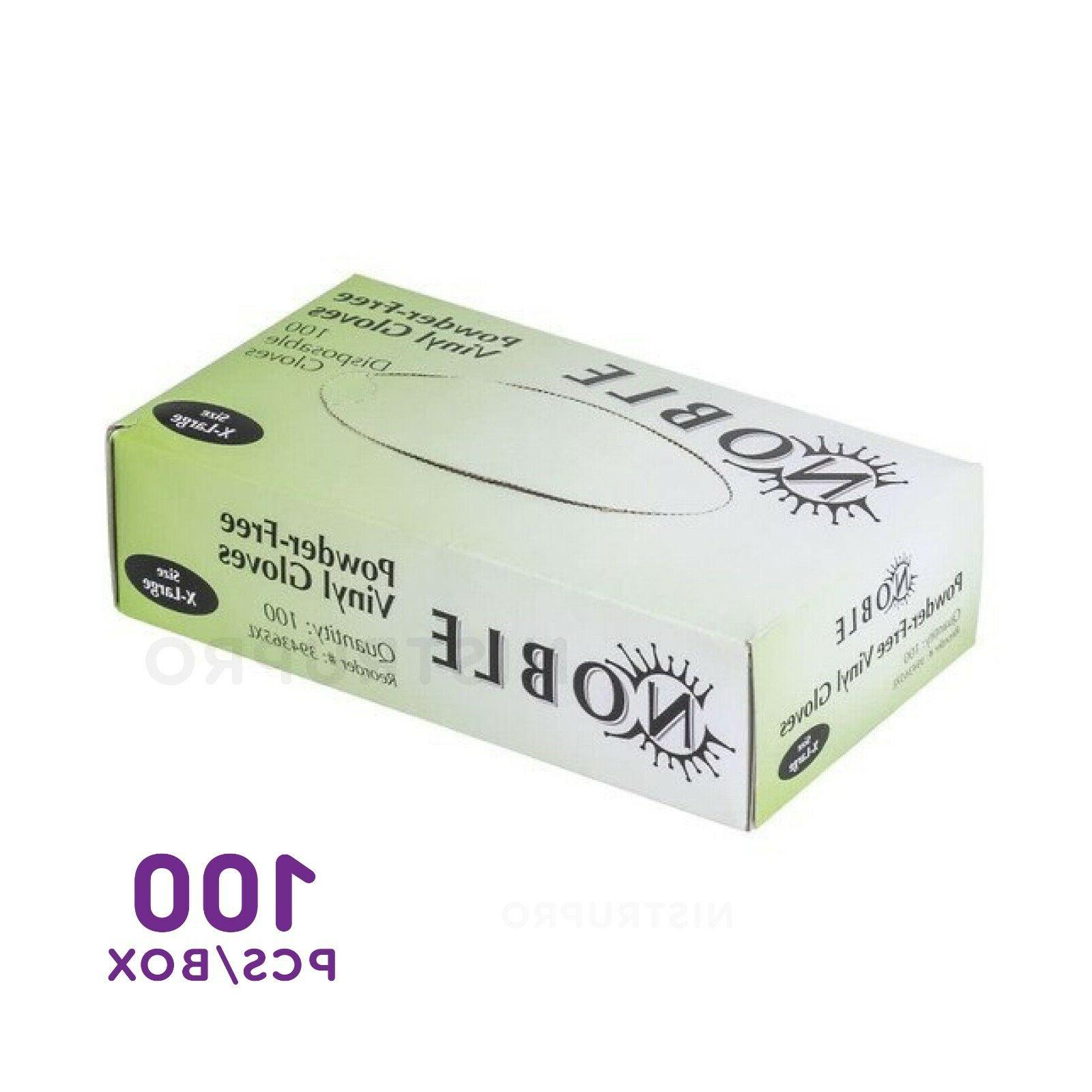 100 PCS BOX Latex-Free VINYL GLOVES MEDIUM, EXTRA