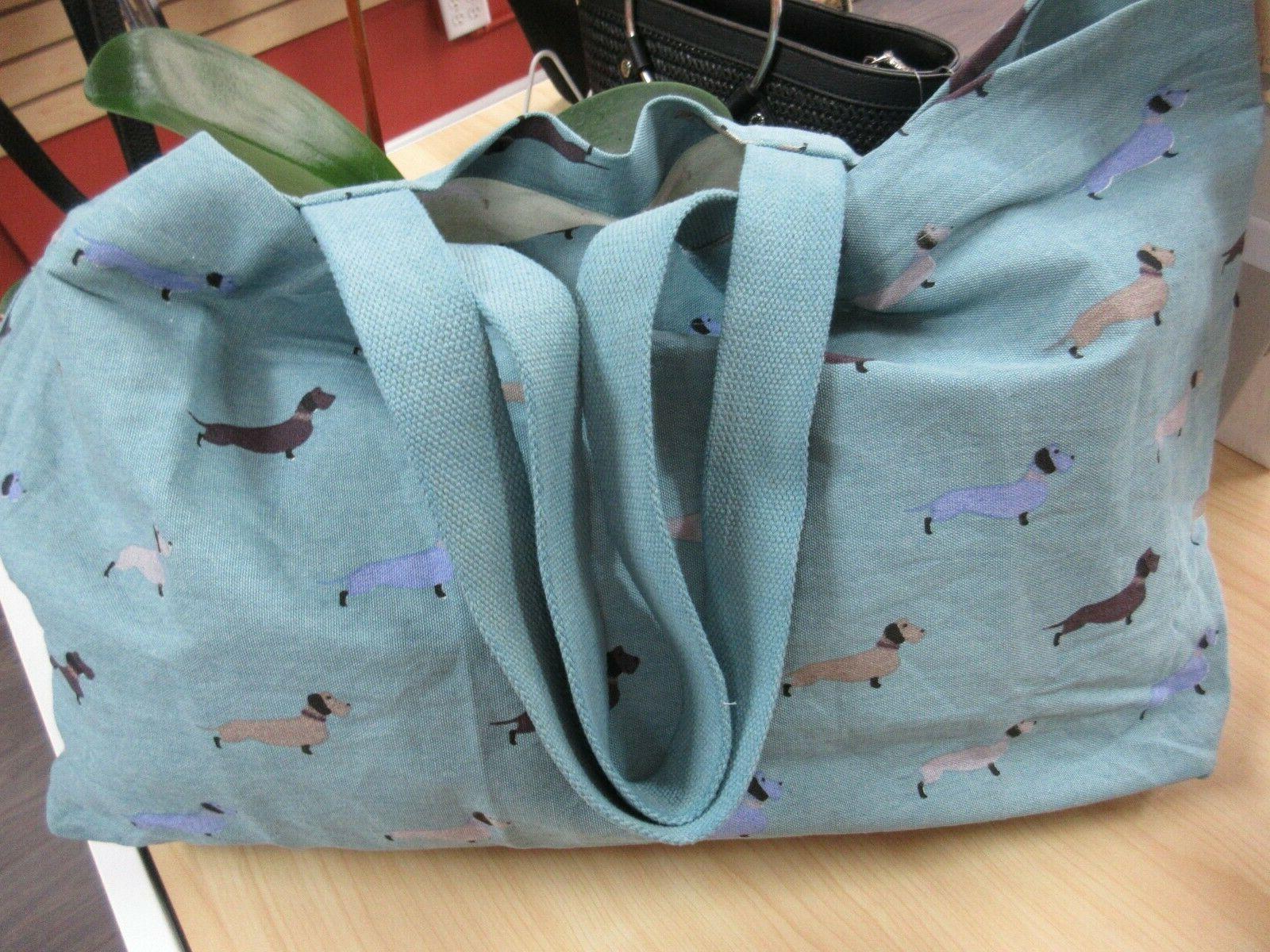 100% Cotton Dachshund Travel Tote Bag