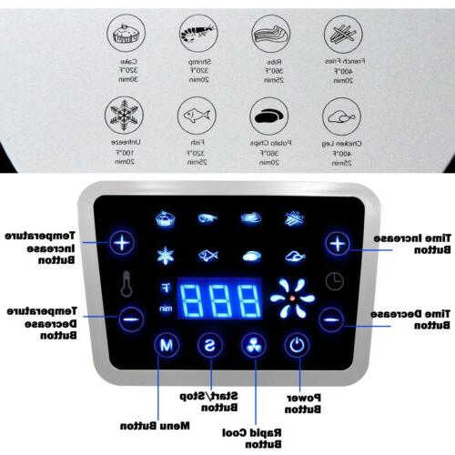 1700W Large Air LCD Temperature Control 8 Presets
