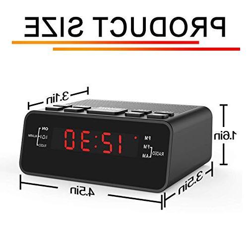 Jingsense Clock Radio Dimmer, Sleep for Bedrooms/Night