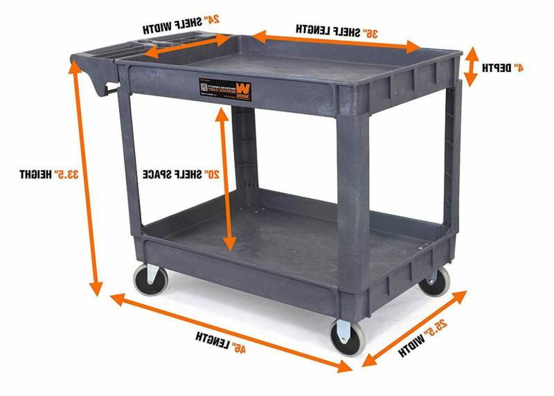 Wen 500-Pound 36 By 24-Inch Extra Large Utility Cart