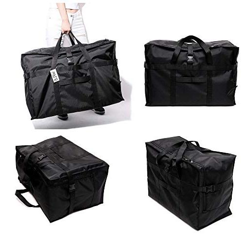 Extra Large Bag 28'',120L,Anti Travel Tote Bag Checked Bag Black