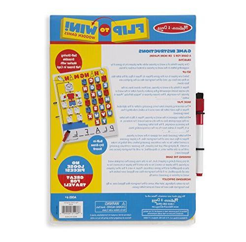Melissa Doug Flip to Win Game White Board, Dry-Erase