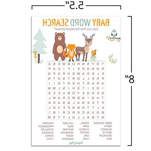 Baby Word Search Game Cards Games for or Activities Supplies