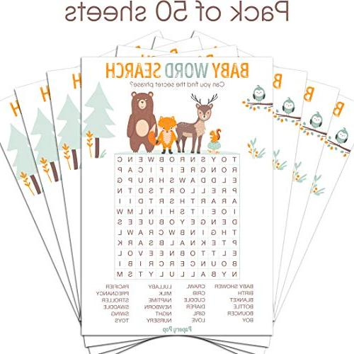 Cards - Shower Games for or Party Activities Woodland