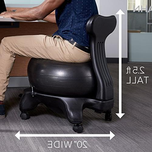 Gaiam Classic Balance Chair Yoga Ball Ergonomic Chair Office Desk Pump, and Satisfaction Guarantee, Ocean