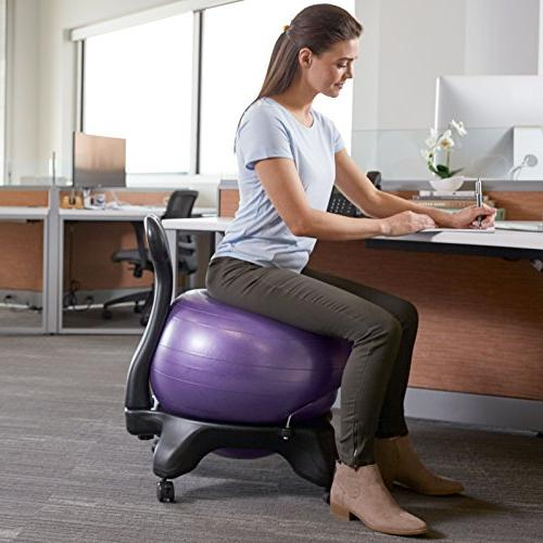 Gaiam Chair – Exercise Stability Yoga Chair for Home Office Desk Air Pump, and Satisfaction Guarantee,