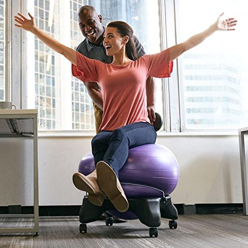 Gaiam Classic Balance Chair – Stability Yoga Chair for Home Office with Pump, Satisfaction