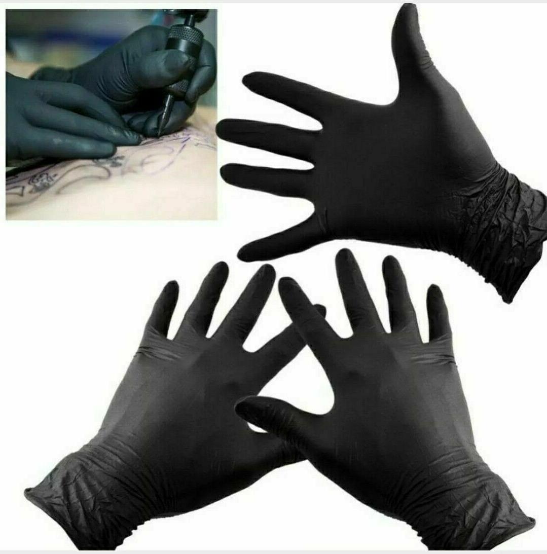 BLACK Nitrile Examination Gloves, Size Extra-Large
