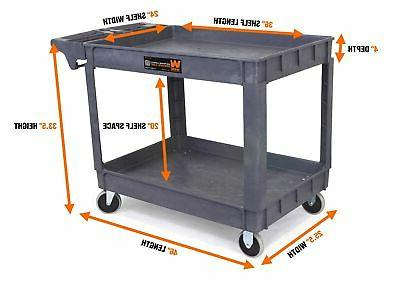 36 by 24-Inch Large Service Cart